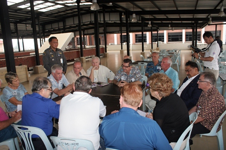 Pol. Maj. Gen Supisarn Bhakdinarinath watches a group of expats expressing their views during the breakout workshops.