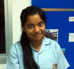 GIS star student Salena, who passed her IGCSE First Language early - and gained an A grade!