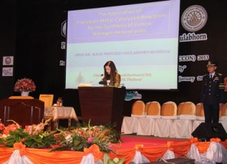 HRH Princess Chulabhorn presides over the opening ceremony for the Pure and Applied Chemistry International Conference.