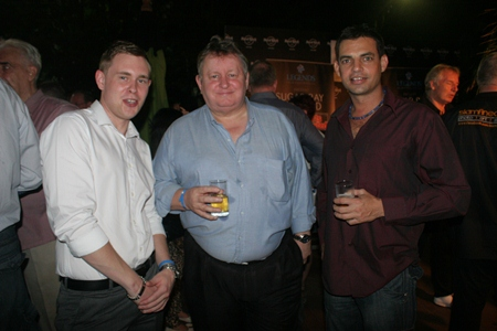 (L to R) Robert Buckley, Dave Buckley (Real Estate Magazine Thailand), and Brett.