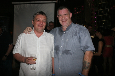 (L to R) Terrence Allen Collins (The Vineyard) and Joe Cox (Defence International Security Services).