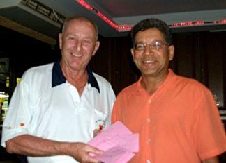 Sunday's winner Ajit Amin (right) with Colin Davies.