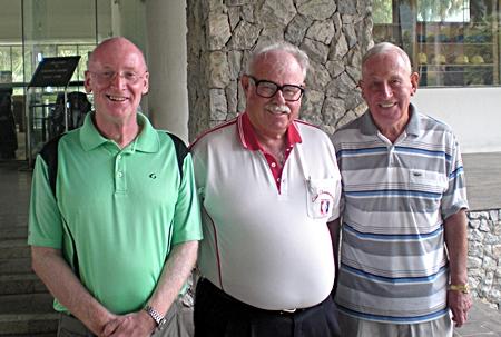 (Left to right) Don Richardson, Dave Richardson and Graham Buckingham.