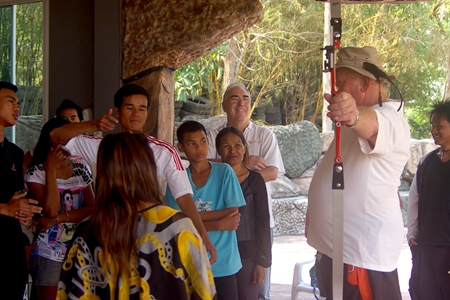 Archery coaching for the children.