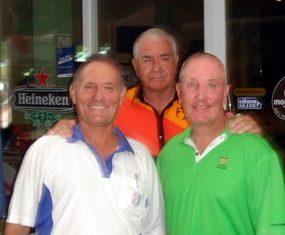 Bill Marsden with John Ryves and Richard Holmes.
