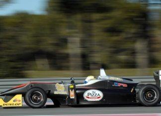Sandy Stuvik drives his Formula 3 at the Paul Ricard Circuit in southern France, Saturday, Feb. 16.