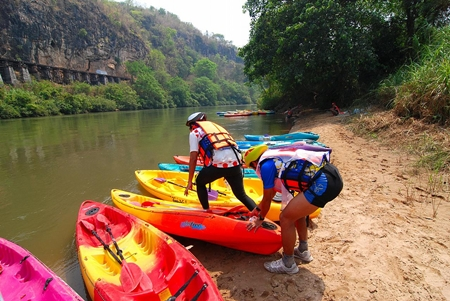 Adventure racing on the River Kwai.