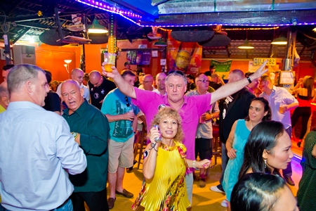 A packed dance floor at Boomerang Bar soaks up some Northern Soul.