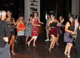Dancing Latino style at Havana Bar.