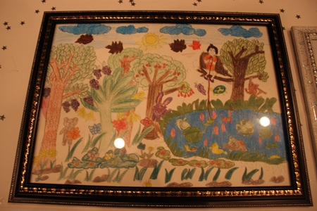 Children's art from Ban Jing Jai were in demand during the auction.