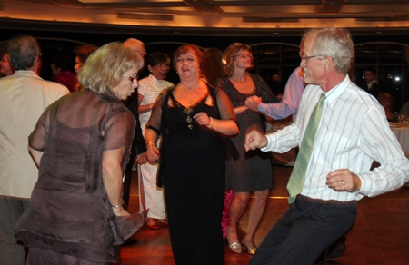 Guests take to the dance floor - after all, it is a Gala Dinner Dance.