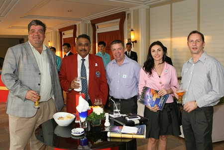 (L to R) Scott Smith, Pratheep Malhotra, Paul Strachan, Irena De Ribas and Danilo Becker.