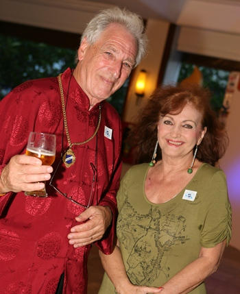 Graham Blakey and Elfi Seitz, also a founding member of Skal Pattaya..