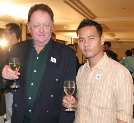 Allan Riddell, director and Pasit Foobunma, board member of the South African Chamber of Commerce.