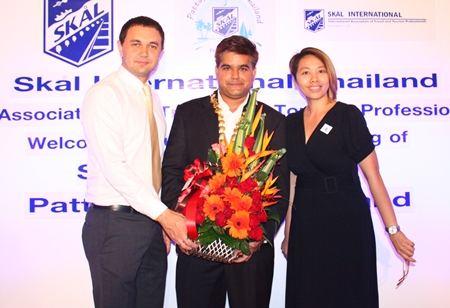 (L to R) Dmitry Chernyshev, EAM, Pullman Pattaya Hotel G, Tony Malhotra and Janjira Buanlee, PR Manager Pullman Pattaya Hotel G.