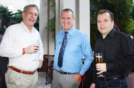 (L to R) Alan S. Verstein, MD of Siam Gazette, Torben Rudgaard, CEO of Pattaya Investors and Peter Beyer.