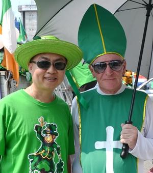 Father Peter meets Saint Patrick.