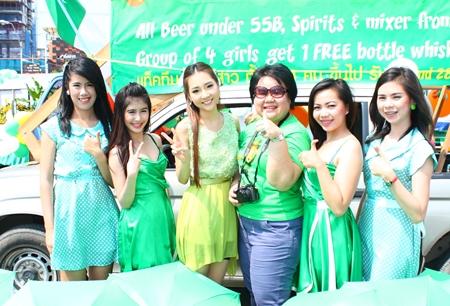 Pattaya Marriott Resort and Spa sent beautiful girls to celebrate St. Patrick's Day.