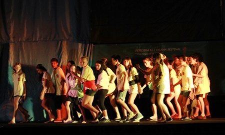 Students dance and act their way through the final show.