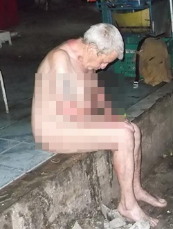 Drunk and naked, no one offered this man clothing and the police allegedly left him outside.