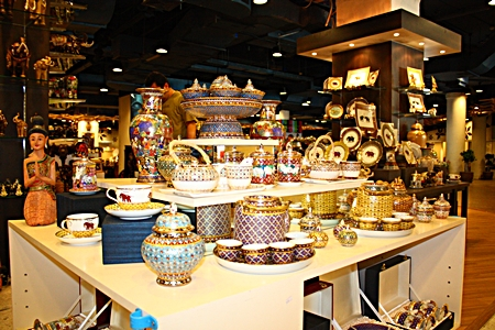 Thai silk, jewelry, souvenirs and accessories are on sale at Central Festival Pattaya Beach in its Asian Bazaar Zone through April 7.
