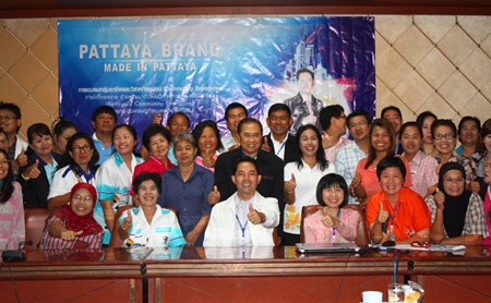 """It's a big thumbs up from everyone trying to promote the new """"Pattaya Brand."""""""