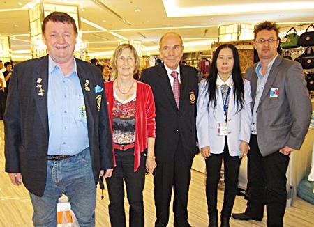 (L to R) PE Graham Hunt-Crowley, Dr Margaret Deter, PE Otmar Deter, PE Nanthiya Weerapattarakul, and PE Nigel Quinnell.