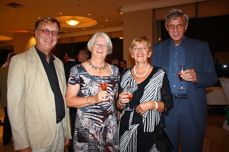 Hubert and Ria Zanten, Yvonne and Willem Stevent.