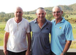 From left: Capt' Steve, Murray Hart and Howard Marson.
