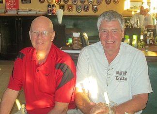 Tuesday winners - Brian Parish & Steve Compton.