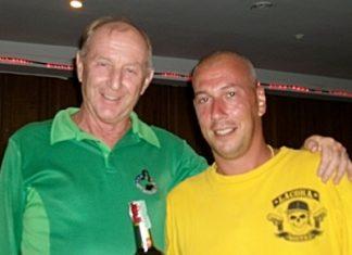 Sunday Medal Winner Thomas Myborg (right) with Colin Davis.