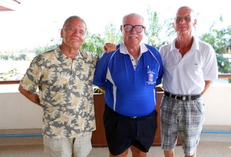 Eddie Glinsek, Dave Richardson and Hennig Olsen.
