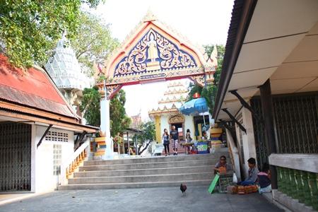 The entrance to Khao Phrabat Temple on Pratamnak Hill.