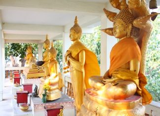 Various Buddha statues represent different days of the week for people to worship on their birthday.