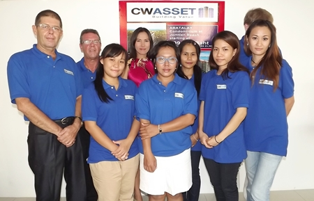 The CW Asset Co. sales team pose for a photo at the March 16 party.