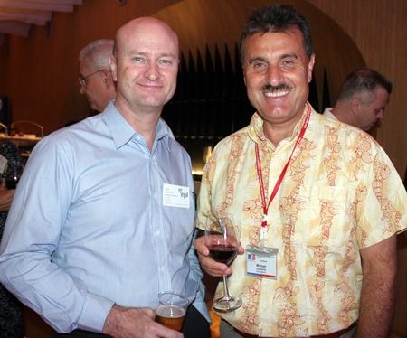 Neil Farrell (Elastomer Products) and Michael Diamente (Dana Spicer).