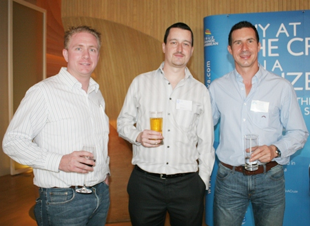 Michael Parham (CEA), Damien Kerneis (Geodis Wilson Thai) and Andy Hall (CEA Projects).