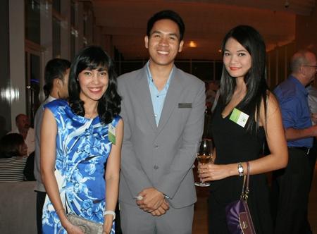 Chutima Konfai (Holiday Inn Pattaya), Thanatnon Intamongkhon (Hilton Pattaya) and Jiraporn Charoenpan (Holiday Inn Pattaya).