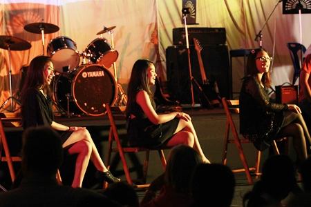 A trio of GIS girls performed at the MAD night.