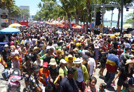 Pattaya Beach Road will be packed on April 19, so don't even try to drive there.