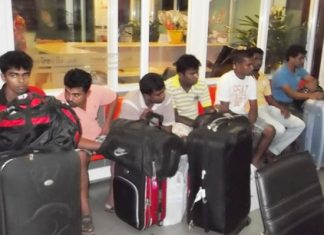 Police have arrested 11 men from Sri Lanka who they believe to be involved in human trafficking.