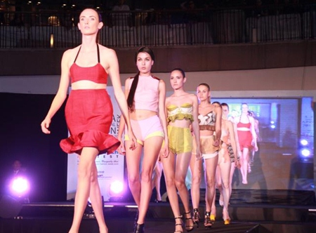 Models show off famous brands as Pattaya International Fashion Week struts down the runway for a fourth year.