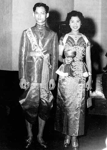 The Royal Couple were married at the Sra Pathum Palace in Bangkok on April 28, 1950.