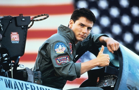 """Tom Cruise in the role of Maverick in the 1986 movie """"Top Gun."""""""