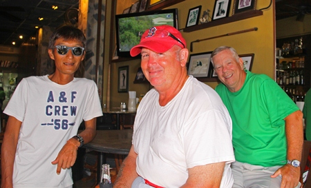 Ken Aihara, Peter Rogers, and a forgetful Alan Rothwell.
