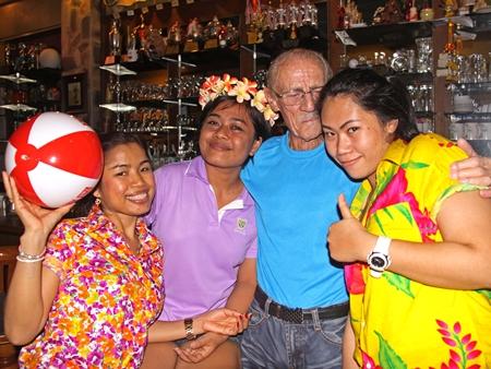 Nat, Koy, Brian and Ying play Songkran.