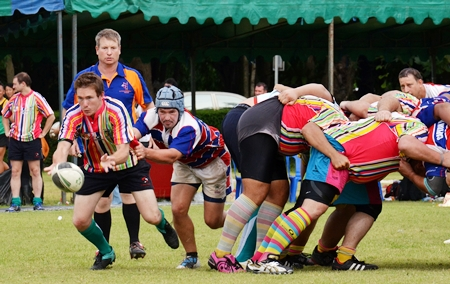 Expect some spectacular action at this year's Pattaya Rugby Festival.