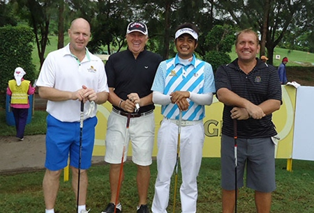 The Outback Pro-Am team (from left): Ian Heddle, Geoff Stimpson, Punuwat Muenlek and Ron Dickie.
