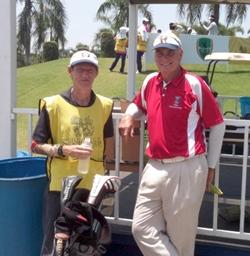 Jeff Wylie & Jonathan Pratt on the 1st Tee at the 11th Singha Pattaya Open.