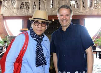 It was no laughing matter when Andre Brulhart (right), GM of Centara Grand Mirage Beach Resort Pattaya welcomed famous Thai stand-up comedian 'Nose' Udom Taepanich to the resort recently.